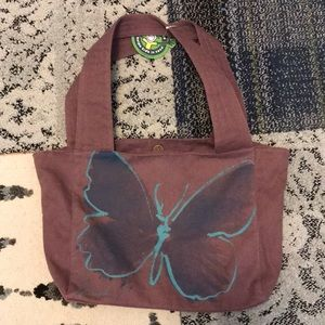 Life is Good Carryall Tote butterfly